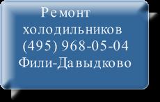 Ремонт холодильников Фили-Давыдково на дому не дорого